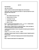 LESSON PLAN & WORKSHEET: ONE STEP EQUATIONS