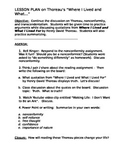 """LESSON PLAN on Thoreau's """"Where I Lived and What…"""" (DOC)"""