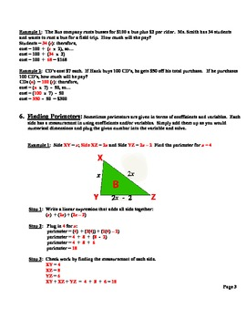LESSON PLANS: LINEAR EXPRESSIONS AND RATIONAL COEFFICIENTS