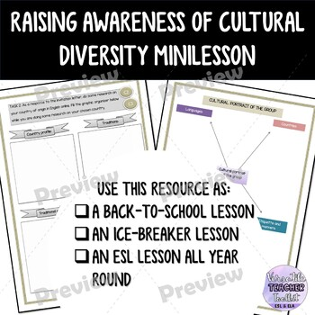 Cultural Awareness Lesson pack - Back to School