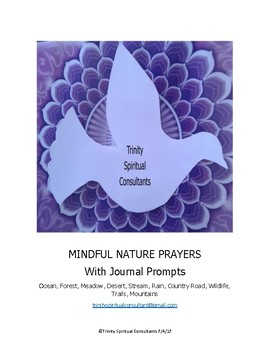 LESSONS Mindful Nature Prayers w Journal Prompts 10 Lessons