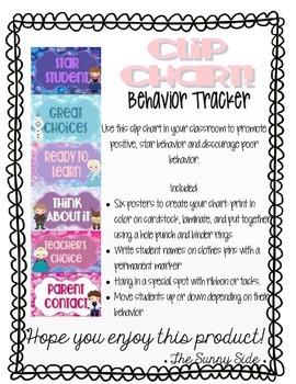 LET IT GO! Ice Princess Behavior Clip Chart