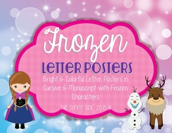 LET IT GO! Ice Princess Letter Posters