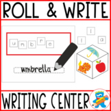 Writing center. Roll and write. Fun and engaging. Spelling practice.