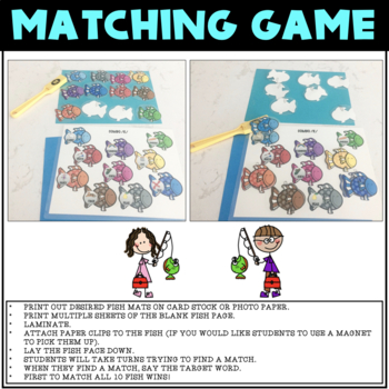 LET'S GO FISHING, GAME COMPANION, ARTICULATION (SPEECH & LANGUAGE THERAPY)