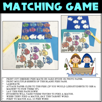 LET'S GO FISHING, GAME COMPANION, BUNDLE. FISH MATCHING GAME