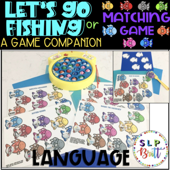 LET'S GO FISHING, GAME COMPANION, LANGUAGE (SPEECH & LANGUAGE THERAPY)