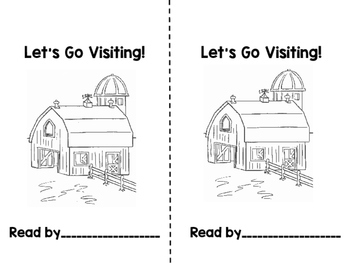 LET'S GO VISITING: Poem and Emergent Reader
