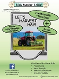 LET'S HARVEST HAY! Fine Motor and Letter Recognition Activity