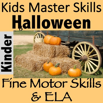 Halloween Fine Motor and Letter Recognition Activity - LET'S PICK PUMPKINS!