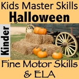 Halloween Fine Motor and Letter Recognition Activity - LET