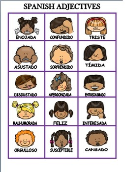 LET'S PLAY WITH SPANISH ADJECTIVES
