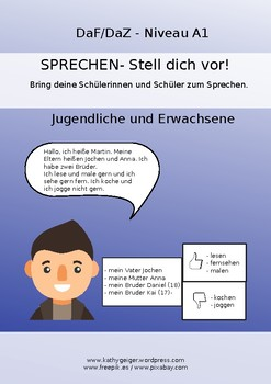 LET'S SPEAK GERMAN AND PRESENT YOURSELF, Level A1, youngsters & adults