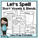 Spelling Worksheets and Games - Short Vowels and Blends
