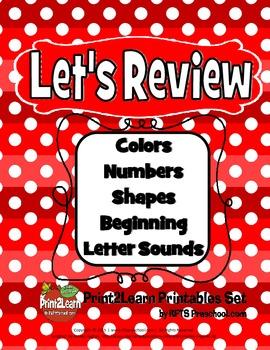 LET'S REVIEW  (A PreK Core Cognitive Concept Review Pack)