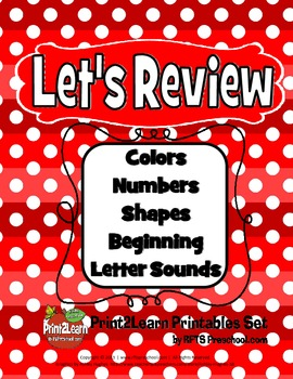 LET'S REVIEW  (A PreK Core Cognitive Concept Review Pack)