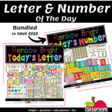 LETTER AND NUMBER OF THE DAY CLASSROOM CENTERS- BUNDLE