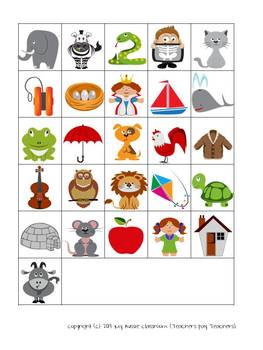 LETTER AND PICTURE MATCH