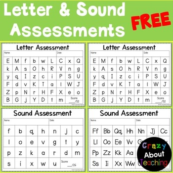 LETTER AND SOUND ASSESSMENT-FREEBIE
