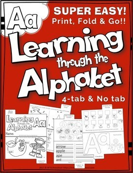 LETTER Aa (ACTIVITY TAB BOOK) PRINT FOLD and GO