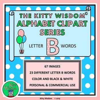 Letter B Clip Art Alphabet Beginning Sounds 75 Images 22 B Words