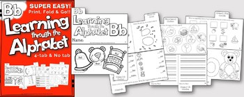 LETTER Bb (ACTIVITY TAB BOOK) PRINT FOLD and GO
