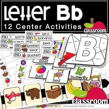 LETTER Bb CENTER ACTIVITY PACK