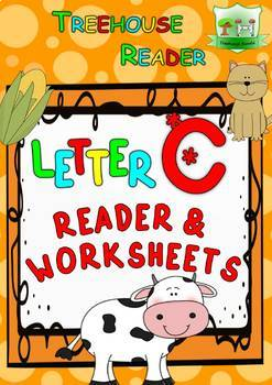 LETTER C - ACTIVITY PACK - Reader, Flashcards, Worksheets