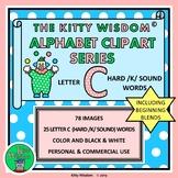 LETTER C (Hard /K/ Sound) Words CLIP ART - Alphabet Beginn