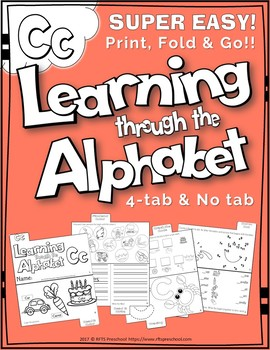 LETTER Cc (ACTIVITY TAB BOOK) PRINT FOLD and GO