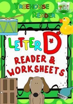 LETTER D - ACTIVITY PACK - Reader, Flashcards, Worksheets