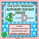 LETTER D Words CLIP ART - Alphabet Beginning Sounds - Colo