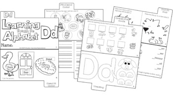 LETTER Dd (ACTIVITY TAB BOOK) PRINT FOLD and GO