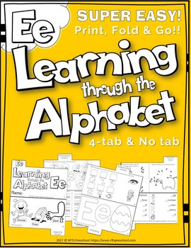 LETTER Ee (ACTIVITY TAB BOOK) PRINT FOLD and GO