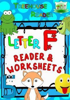 LETTER F - ACTIVITY PACK - Reader, Flashcards, Worksheets