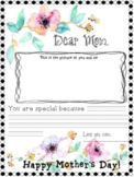 FREE - MOTHER'S DAY WRITING ACTIVITIES - LETTER FOR MOM