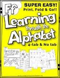 LETTER Ff (ACTIVITY TAB BOOK) PRINT FOLD and GO