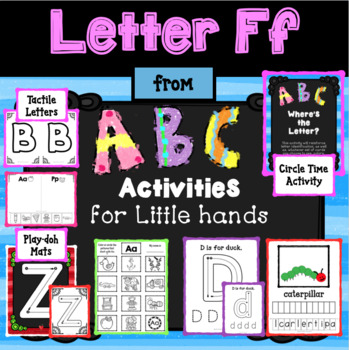 LETTER Ff from ABC ACTIVITIES FOR LITTLE HANDS for Preschoolers/Kindergarteners