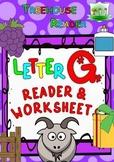 LETTER G - ACTIVITY PACK - Reader, Flashcards, Worksheets