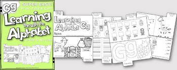 LETTER Gg (ACTIVITY TAB BOOK) PRINT FOLD and GO