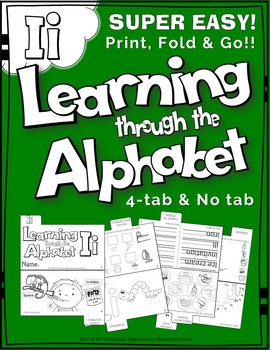 LETTER Ii (ACTIVITY TAB BOOK) PRINT FOLD and GO