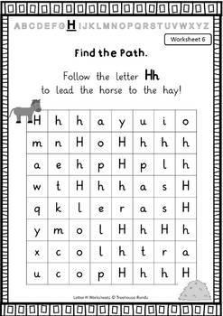 LETTER H - ACTIVITY PACK - Reader, Flashcards, Worksheets
