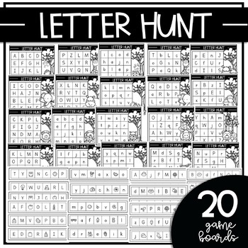 LETTER HUNT {Independent Bingo Game for Letter Recognition & Fluency}