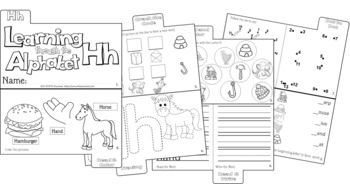 LETTER Hh (ACTIVITY TAB BOOK) PRINT FOLD and GO