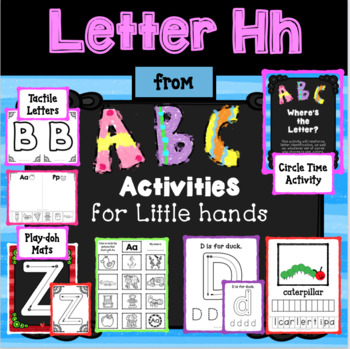 LETTER Hh from ABC ACTIVITIES FOR LITTLE HANDS for Preschoolers/Kindergarteners