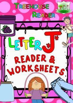LETTER J - ACTIVITY PACK - Reader, Flashcards, Worksheets