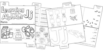 LETTER Jj (ACTIVITY TAB BOOK) PRINT FOLD and GO
