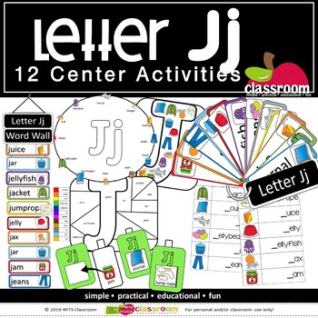 LETTER Jj CENTER ACTIVITY PACK