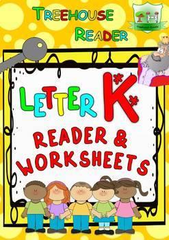 LETTER K - ACTIVITY PACK - Reader, Flashcards, Worksheets