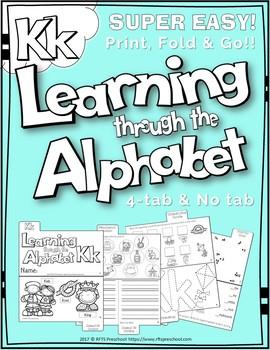 LETTER Kk (ACTIVITY TAB BOOK) PRINT FOLD and GO
